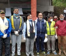 Lions club of Kathmandu new waves under 325 A2 organized tree Plantation and cleaning program